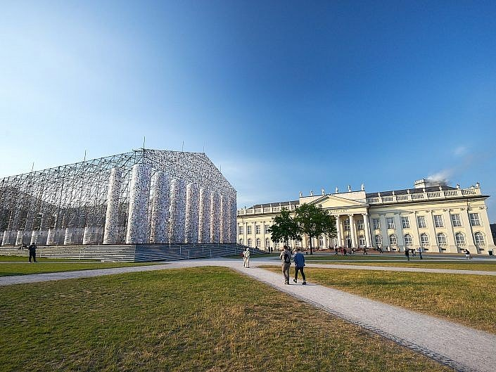 "Marta Minujín, ""The Parthenon of Books"", Kassel"